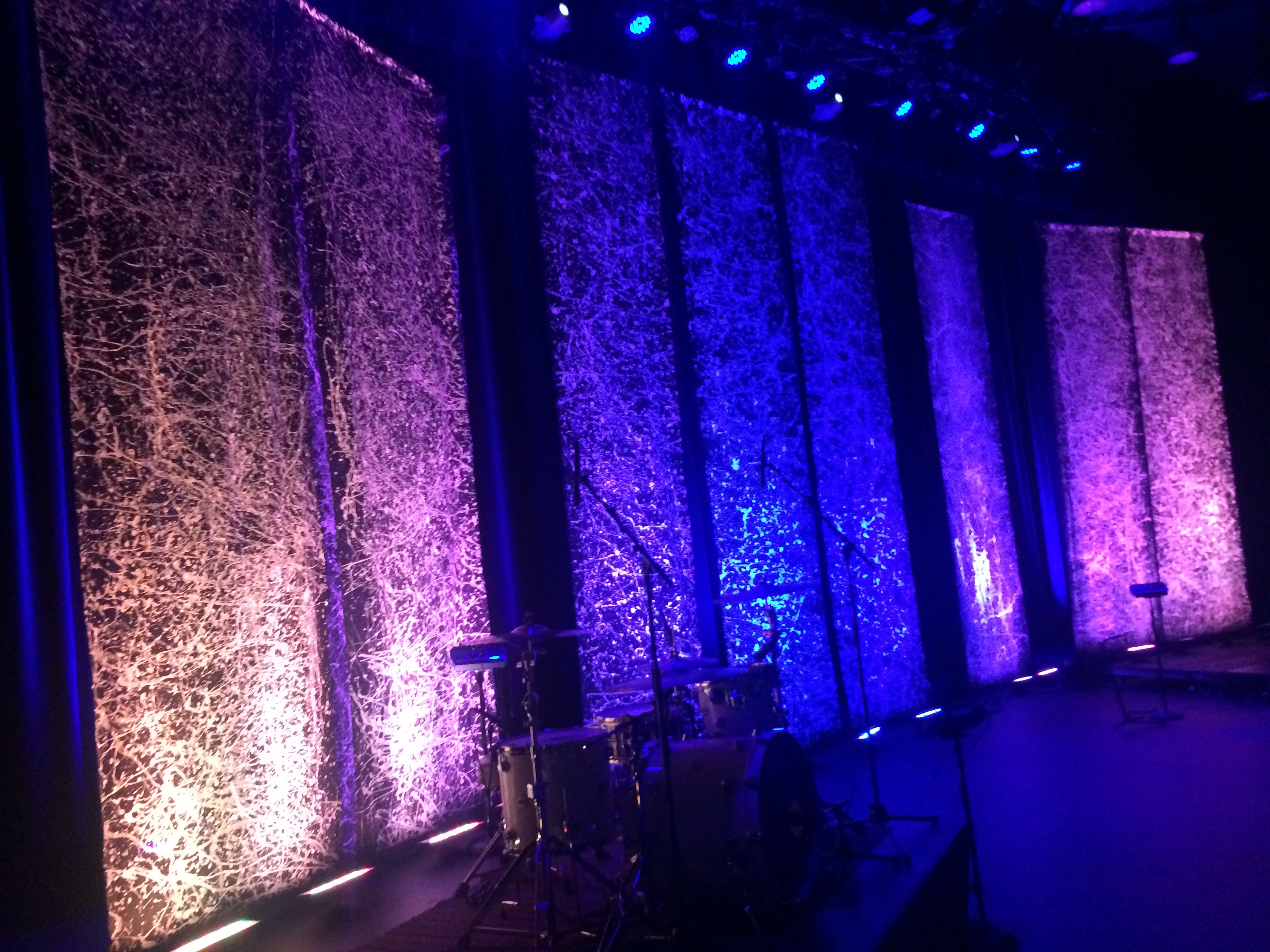 Stage Set Splatter Backdrops The Crossing Creative